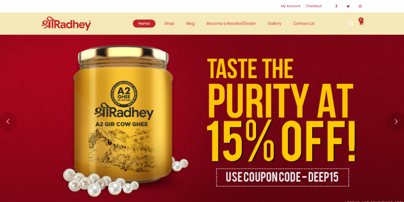 Pure A2 Gir Cow Ghee Buy Online Best Quality Shree Radhey